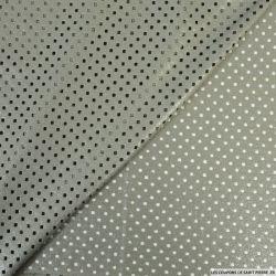 Faux daim perforé polyester kaki argent