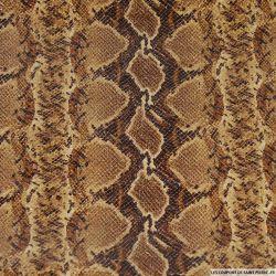 Toile polyester contrecollé écaille marron