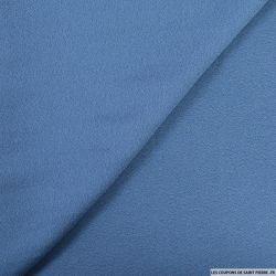Crêpe georgette polyester bleu