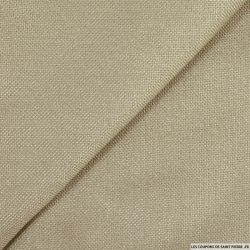 Toile tissée polyester beige