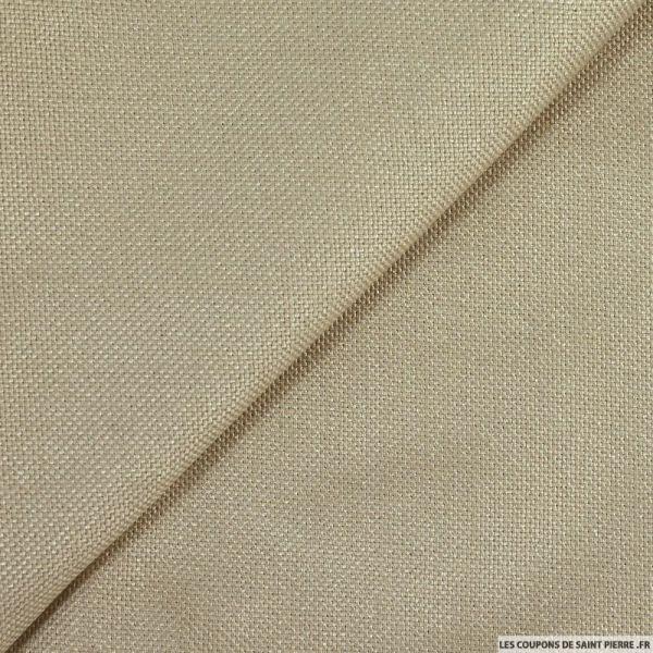 Toile tissée polyester beige