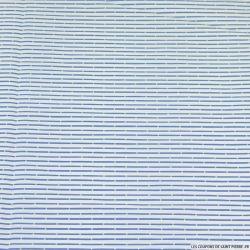 Coton tissé rayé bleu et blanc