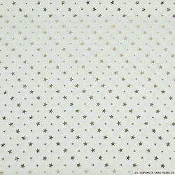 Crêpe imprimé texturé étoile d'or fond écru