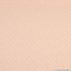Voile polyester plumetis rose pêche