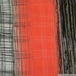 Mousseline polyester fil argent croisement