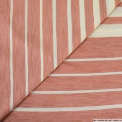 Jersey rayé rose