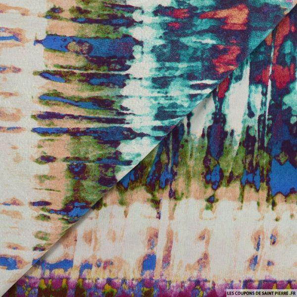 Jersey imprimé fondu multicolore