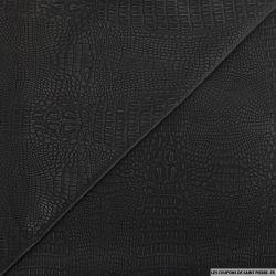 Jersey polyester contrecollé sky noir reptile