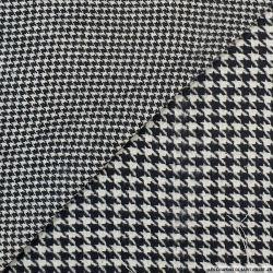 Lainage double face pied de poule noir et gris