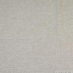 Voile de lin plumetis gris
