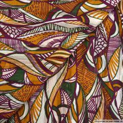 Crêpe bandes jacquard african mood multicolore
