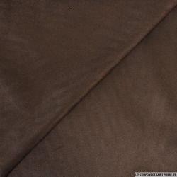 Chamoisine polyester chocolat