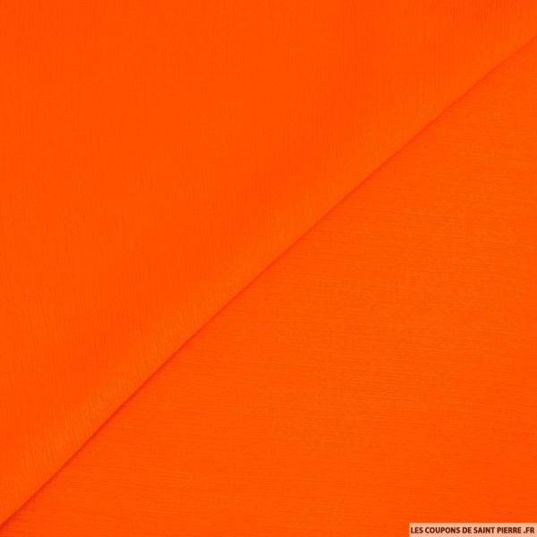 Mousseline crinkle orange