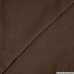 Mousseline crinkle marron