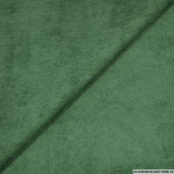 Velours polyester côtelé vert émeraude