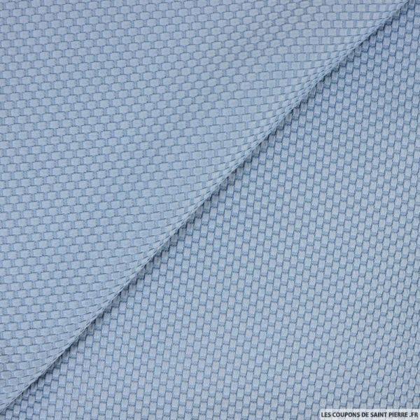 Jersey nid d'abeille bleu acier