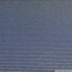 Maille milano bleu marine petites rayures tennis