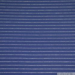 Maille milano bleu marine rayures tennis