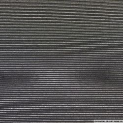 Maille milano noir petites rayures tennis