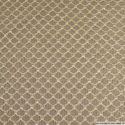Maille tricotée lurex marron glacé