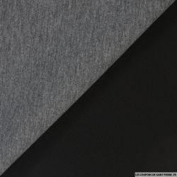 Néoprène polyester double face gris