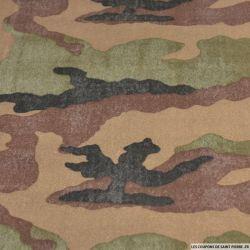 Jersey gratté camouflage