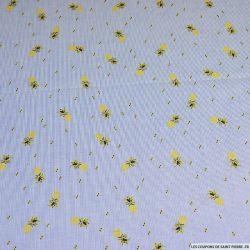 Polycoton rayé ananas