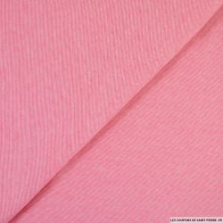 Jersey viscose fines rayures rose et blanc