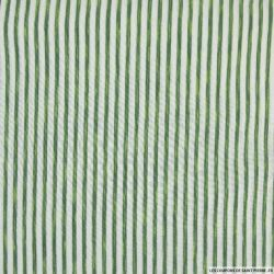 Jersey viscose rayures vert et blanc