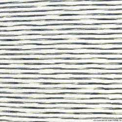 Jersey viscose rayure graphique 5mm kaki