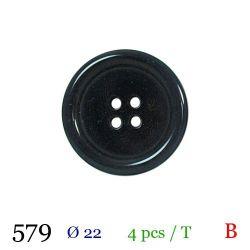 Tube 4 boutons noir Ø 22mm