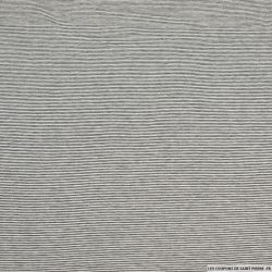 Jersey viscose rayures 2mm noir et blanc