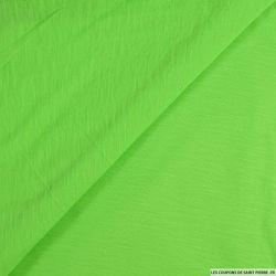 Jersey fin flammé vert fluo