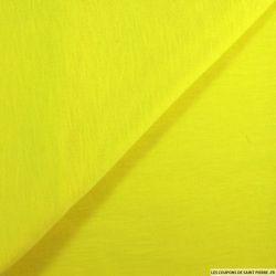 Jersey fin flammé jaune fluo