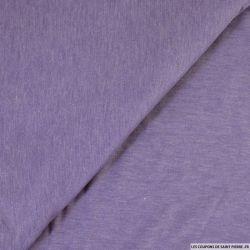 Jersey fin flammé violet glycine
