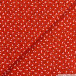 Coton imprimé petit et mignon fond rouge