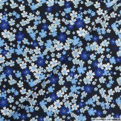 Coton imprimé relaxons-nous bleu fond nuit