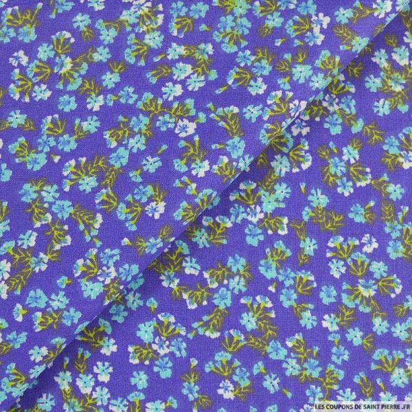 Coton imprimé encore et toujours fond violet clair