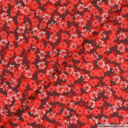 Coton imprimé chéri(e), t'a vu la carte ! fond rouge