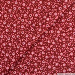 Coton imprimé Bonjour dimanche fond rouge
