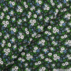Coton imprimé redoutable fond vert