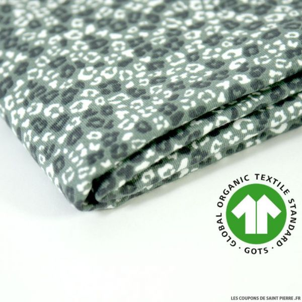 Jersey coton Bio GOTS sauvage vert