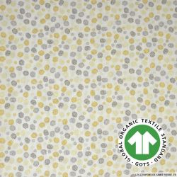 Popeline coton Bio GOTS restons groupé jaune