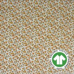 Popeline coton Bio GOTS anis étoilé marron clair