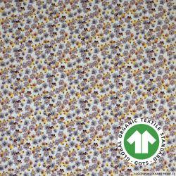 Popeline coton Bio GOTS anis étoilé jade