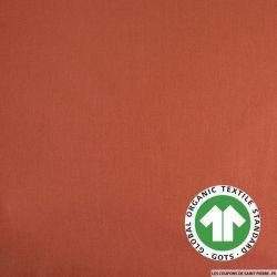 Popeline coton Bio GOTS rouge corail