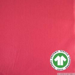 Popeline coton Bio GOTS fuchsia