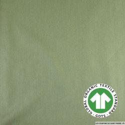 Popeline coton Bio GOTS vert sauge