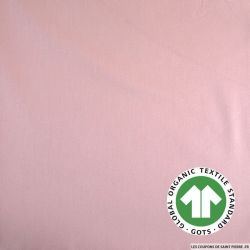 Popeline coton Bio GOTS rose