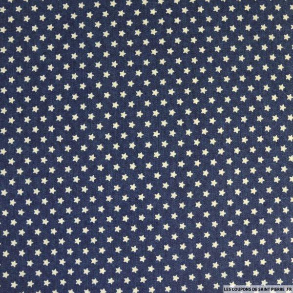 Jean's coton fin imprimé étoile marine
